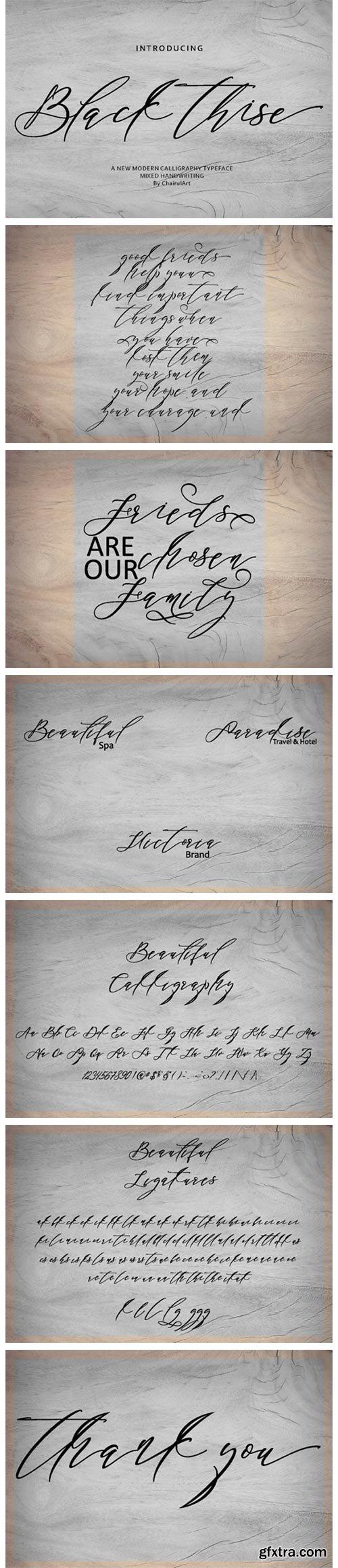 Black Thise Font