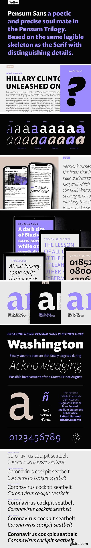 Pensum Sans Font Family