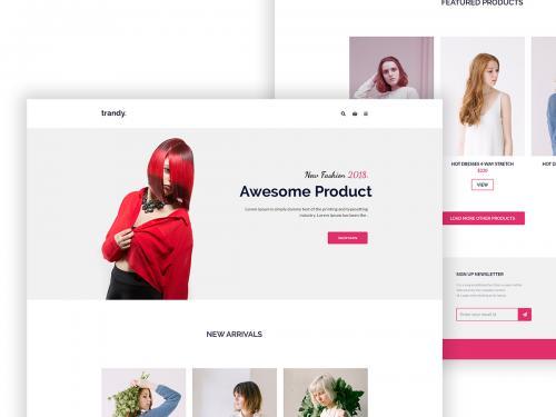 Woman E-commerce Shop - woman-shop-website-design-concept