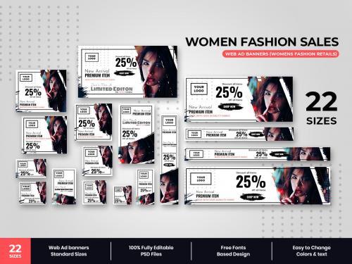 Womens Fashion Sales Web Ad Banners - womens-fashion-sales-web-ad-banners