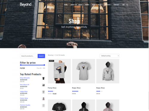 WooCommerce Shop - Beyond WordPress Theme - woocommerce-shop-beyond-wordpress-theme