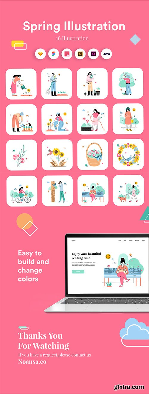 Spring Illustration Kit