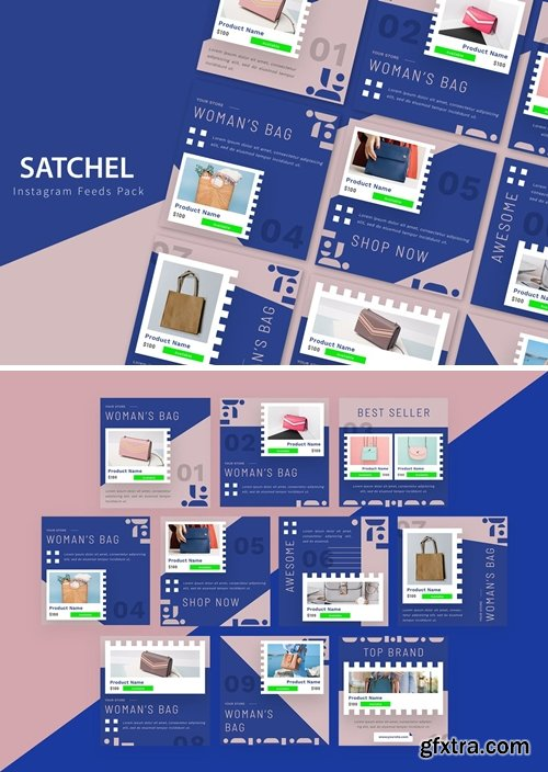 Satchels - Instagram Feeds Pack