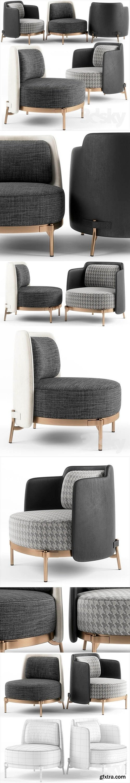Minotti Tape armchairs 3D Model