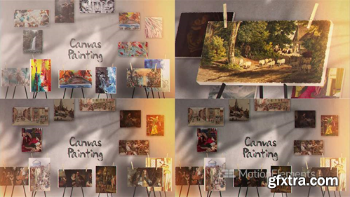 MotionElements Canvas Painting Gallery 14417958