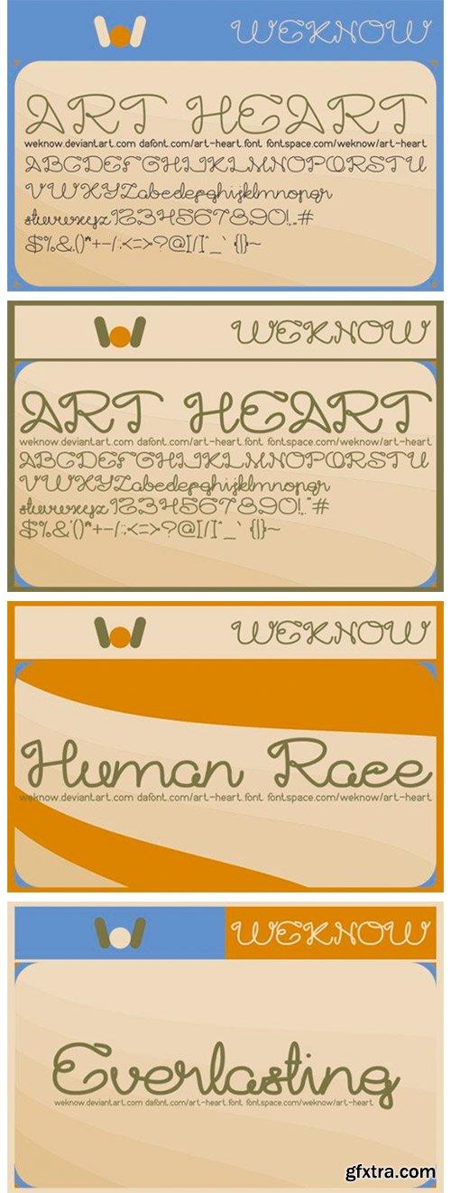 Art Heart Font