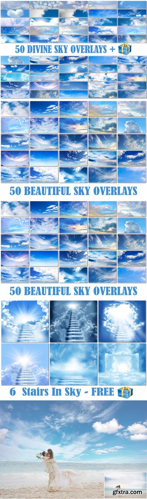 50 Blue Cloud Sky Overlays Skies Texture 2998929