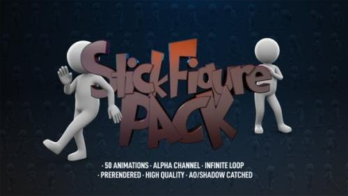 Videohive - Stick Figure Pack - 50 Pack