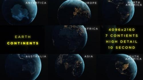 Videohive - Earth Continents