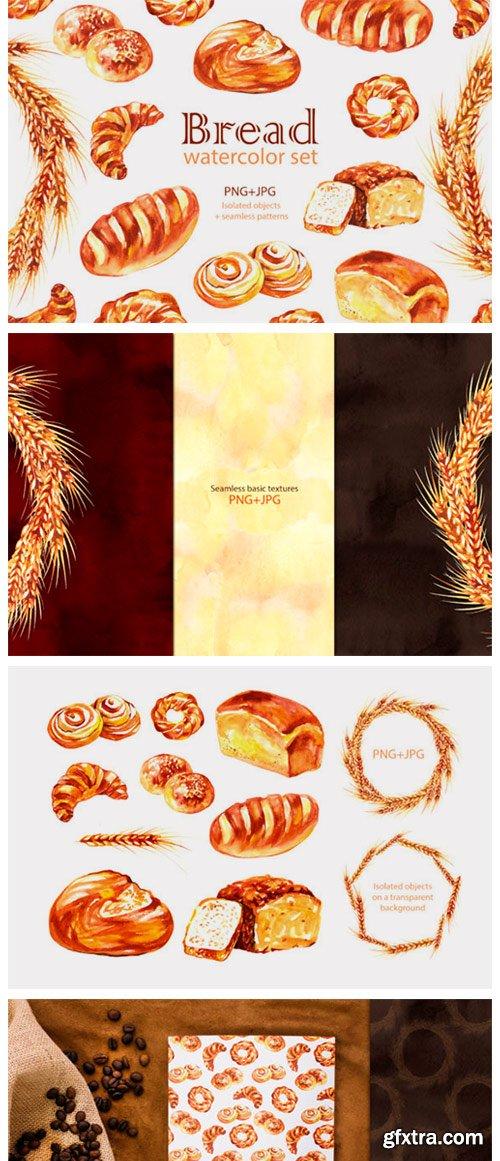 Watercolor Bread Cliparts 2998605