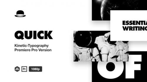 Videohive - Quick Kinetic-Typogaphy