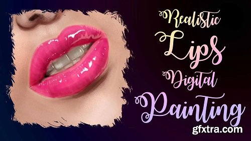 Realistic Mouths Digital Painting: How to Draw Lips with Photoshop or Procreate