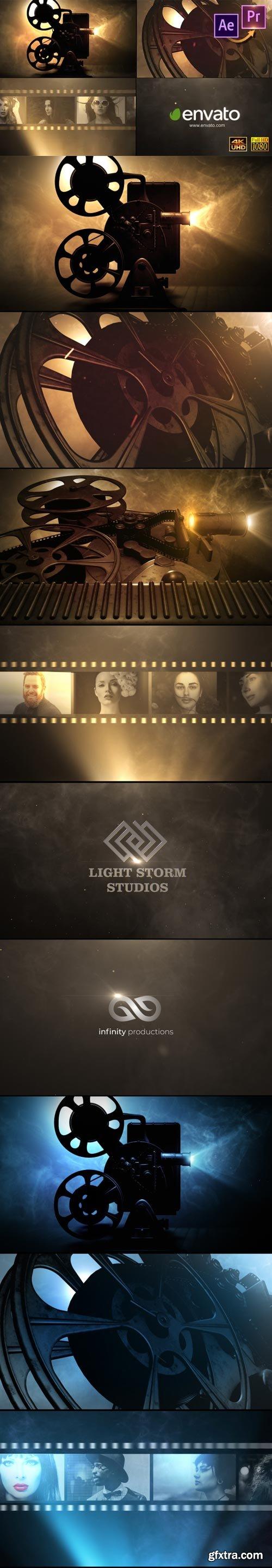 Videohive - Cinema Projector Logo Premiere PRO - 2581994
