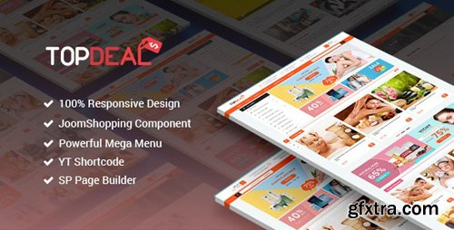 ThemeForest - TopDeal v3.9.6 - Responsive Multipurpose Deal, eCommerce Joomla Template With Page Builder - 20289584