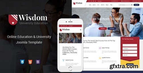 ThemeForest - Wisdom v1.0.0 - Multipurpose & Responsive Education Joomla Template - 24219027