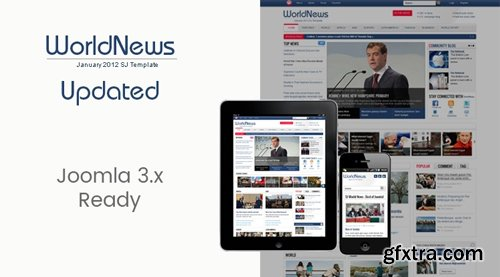 SmartAddons - SJ WorldNews v3.9.6 - Joomla Template for News magazine