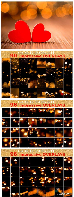 Golden Bokeh Overlays 3012166