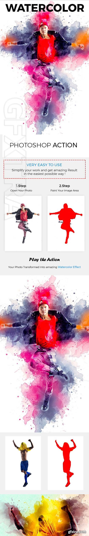 GraphicRiver - Watercolor Photoshop Action 21155539