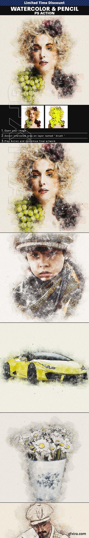 GraphicRiver - Watercolor & Pencil Photoshop Action 25825237