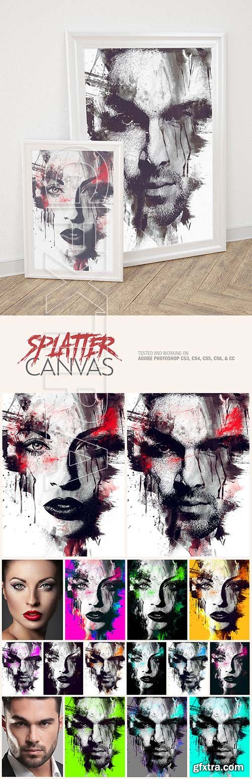 GraphicRiver - Splatter Canvas Photo Template 25808531