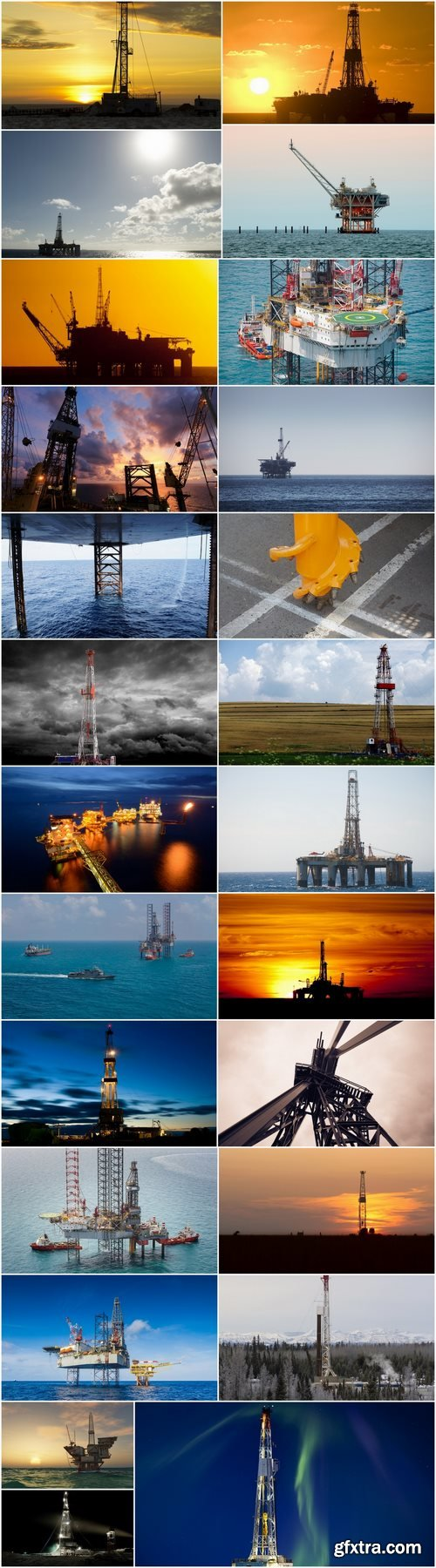 Oil drilling platform extraction of mineral resources gas oil 25 HQ Jpeg
