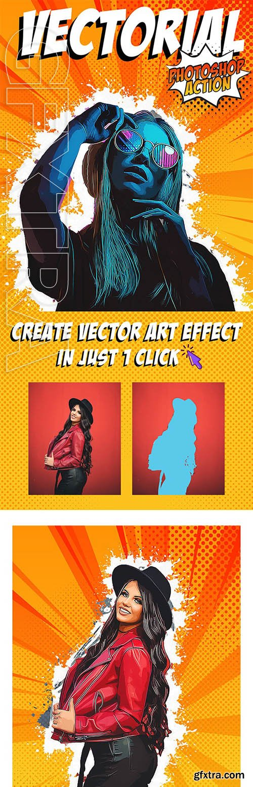Graphicriver - Vectorial Photoshop Action 25663304