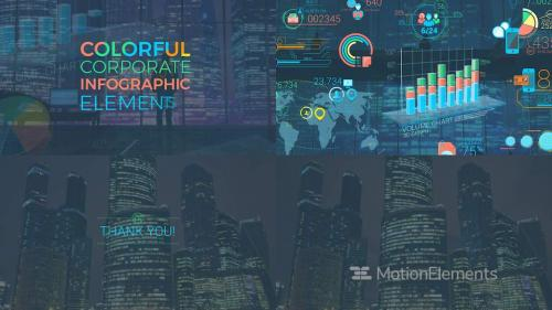 Colorful Corporate Infographic Elements - 12337132