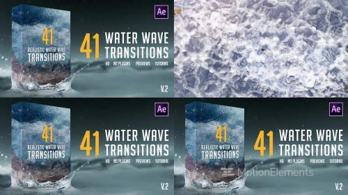 Realistic Water Wave Transitions Pack - 12415854