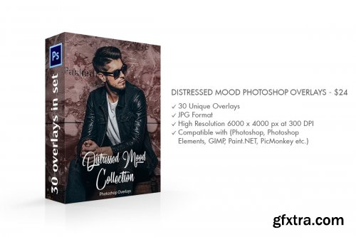 CreativeMarket - Distressed Mood Photoshop Overlays 3812171
