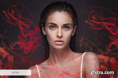 CreativeMarket - Red Smoke Photoshop Overlays 3894299