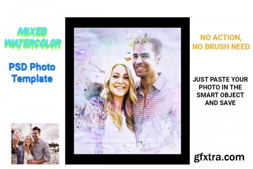 CreativeMarket - Mixed Watercolor Photo Template 4537993