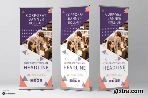 Corporate Flyer Trifold Poster Bifold Roll Banner