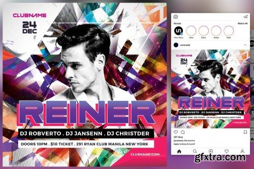 CreativeMarket - DJ Flyer 4542019