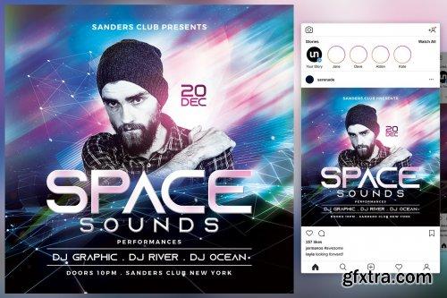CreativeMarket - Space Sound Flyer 4542013