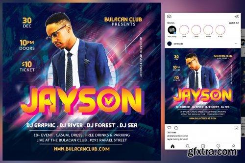 CreativeMarket - DJ Club Flyer 4542014