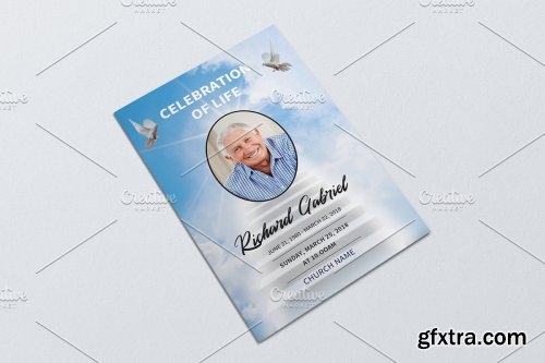 CreativeMarket - Funeral Program Template - V929 4229198