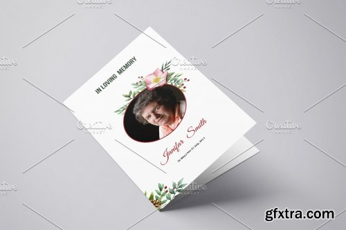 CreativeMarket - Printable Funeral Template - V902 3995107