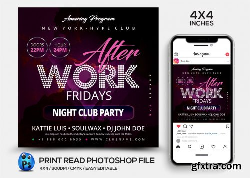 CreativeMarket - Night Club Flyer Template 4538867