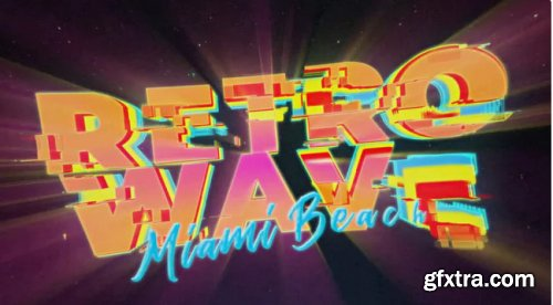 Retro Wave Intro #12 - After Effects 346324