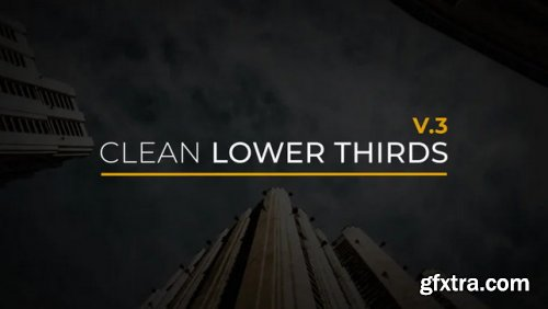 Clean Lower Thirds V.3 - After Effects 346633
