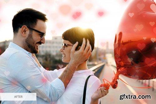 CreativeMarket - Heart Bokeh Photoshop Overlays 4548364