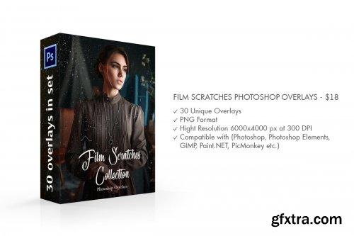 CreativeMarket - Film Scratches Photoshop Overlays 4548099