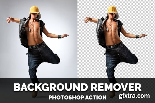 CreativeMarket - Background Remover Photoshop Action 4470150