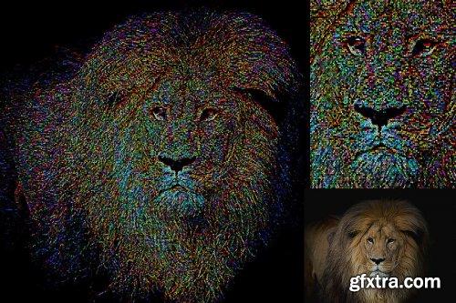 CreativeMarket - Colorful Pixel Art Action 4487565