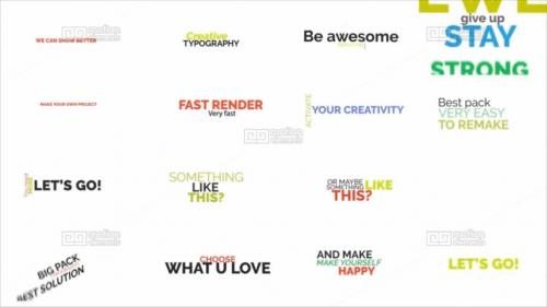 Big Pack of Kinetic Typography - 10844963