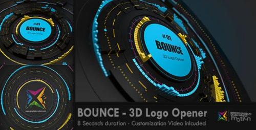 Videohive - BOUNCE - 3D Logo Opener