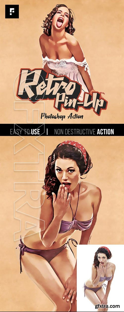 Graphicriver - Retro Pin-Up Photoshop Action 25802038