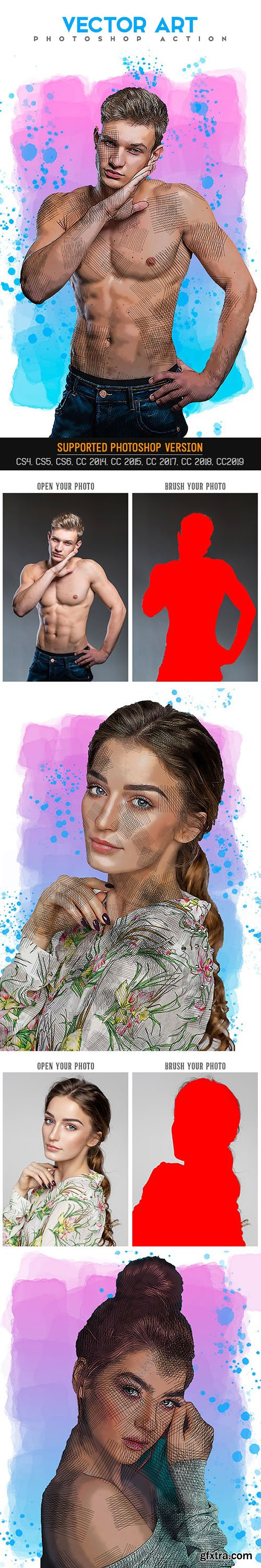 Graphicriver - Vector Art Photoshop Action 25659008