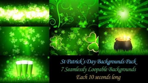 Videohive - St Patrick's Backgrounds Pack