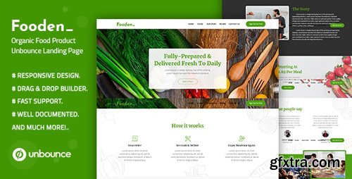 ThemeForest - Fooden v1.0 - Unbounce Food Product Landing Page Template - 25811418